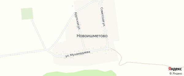 Крупская улица на карте деревни Новоишметово с номерами домов