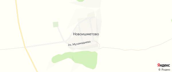 Карта деревни Новоишметово в Башкортостане с улицами и номерами домов