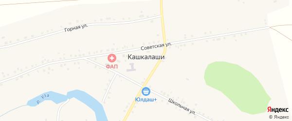 Заречная улица на карте села Кашкалаши с номерами домов