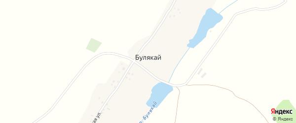 Советская улица на карте деревни Булякая с номерами домов