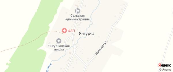 Озерная улица на карте села Янгурчи с номерами домов