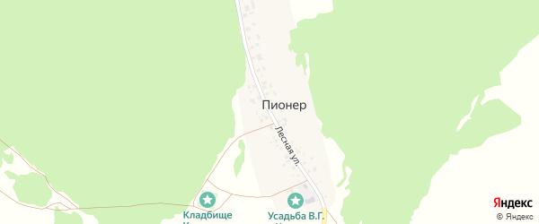 Лесная улица на карте деревни Пионера с номерами домов