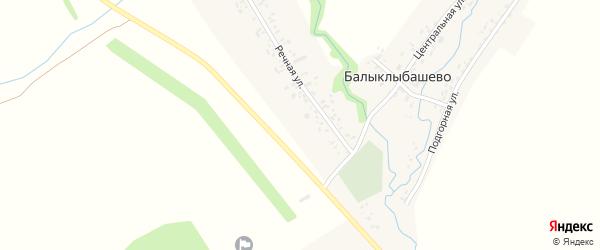 Центральная улица на карте села Балыклыбашево с номерами домов