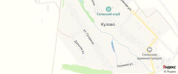 Улица Гагарина на карте села Кузово с номерами домов
