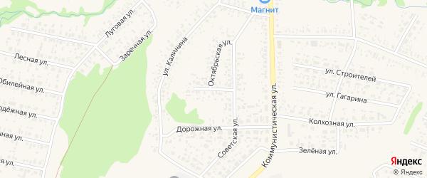 Улица Гоголя на карте села Федоровки с номерами домов