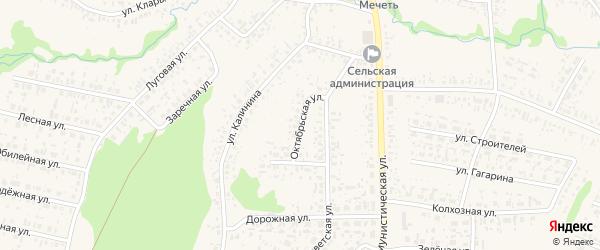 Октябрьская улица на карте села Федоровки с номерами домов