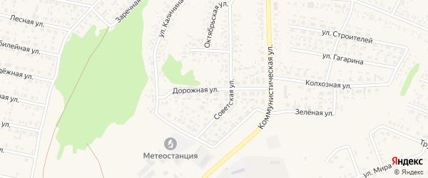Дорожная улица на карте села Федоровки с номерами домов