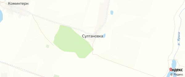 Карта деревни Султановки в Башкортостане с улицами и номерами домов