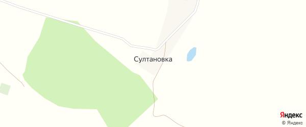 Яктауская улица на карте деревни Султановки с номерами домов