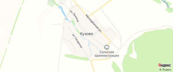 Карта села Кузово в Башкортостане с улицами и номерами домов