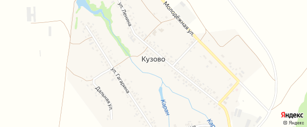 Молодежная улица на карте села Кузово с номерами домов