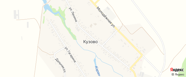 Улица Ленина на карте села Кузово с номерами домов