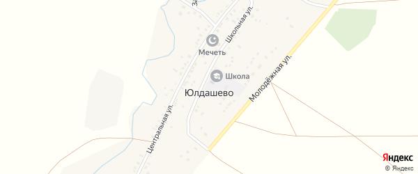 Школьная улица на карте села Юлдашево с номерами домов