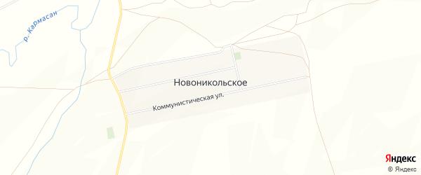 Карта Новоникольского села в Башкортостане с улицами и номерами домов