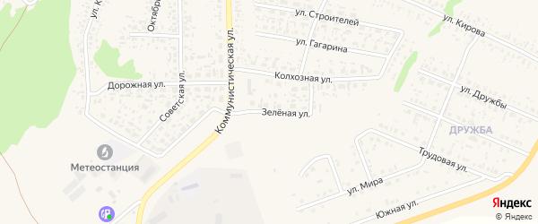 Зеленая улица на карте села Федоровки с номерами домов