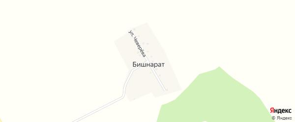 Улица Чеверева на карте деревни Бишнарата с номерами домов