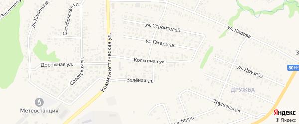 Колхозная улица на карте села Федоровки с номерами домов
