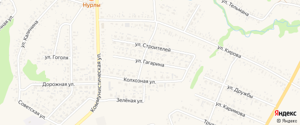 Улица Гагарина на карте села Федоровки с номерами домов