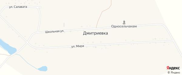 Улица Качкари на карте деревни Дмитриевки с номерами домов