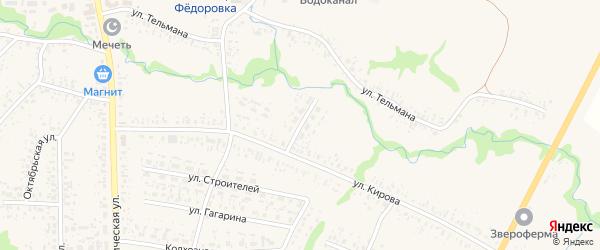 Кировский переулок на карте села Федоровки с номерами домов