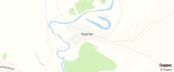 Карта деревни Кургака в Башкортостане с улицами и номерами домов