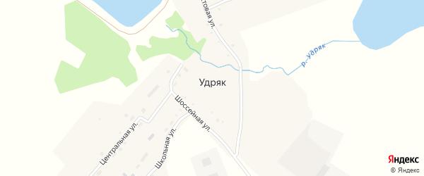 Школьная улица на карте деревни Удряка с номерами домов