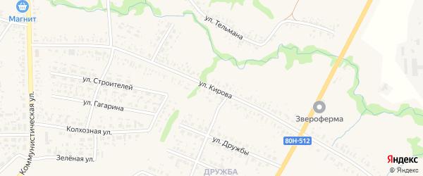 Улица Кирова на карте села Федоровки с номерами домов