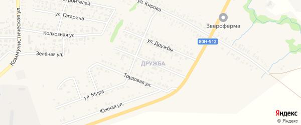 Улица Каримова на карте села Федоровки с номерами домов