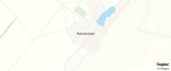 Карта села Аюханово в Башкортостане с улицами и номерами домов