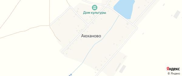 Зеленая улица на карте села Аюханово с номерами домов