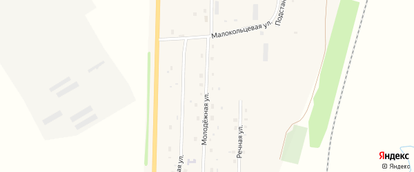 Молодежная улица на карте села Шингак-Куль с номерами домов