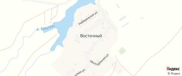 Набережная улица на карте деревни Восточного с номерами домов