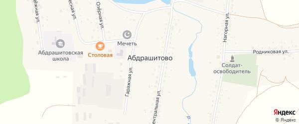 Гаражная улица на карте села Абдрашитово с номерами домов