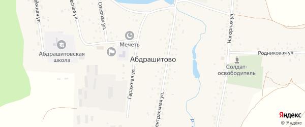 Улица Дружбы на карте села Абдрашитово с номерами домов