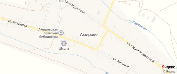 Безымянная 2-я улица на карте села Амирово с номерами домов
