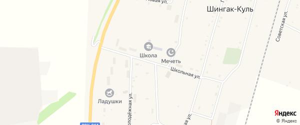 Школьная улица на карте села Шингак-Куль с номерами домов