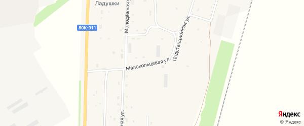 Малокольцевая улица на карте села Шингак-Куль с номерами домов