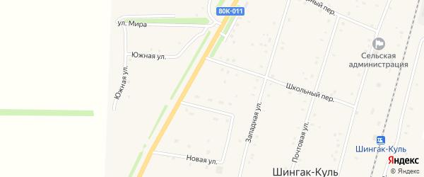 Строительная улица на карте села Шингак-Куль с номерами домов