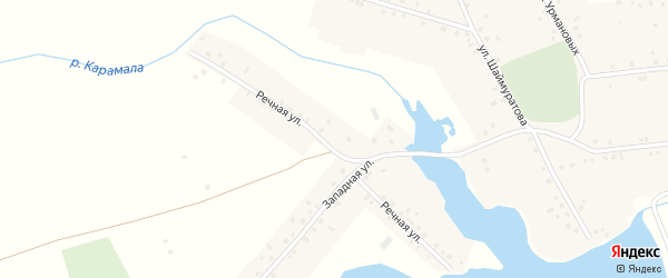 Речная улица на карте села Сафарово с номерами домов