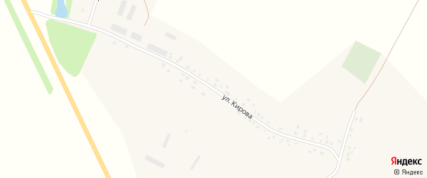 Улица Кирова на карте деревни Старотураево с номерами домов