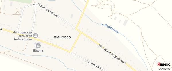 Улица Гадии Мурясовой на карте села Амирово с номерами домов