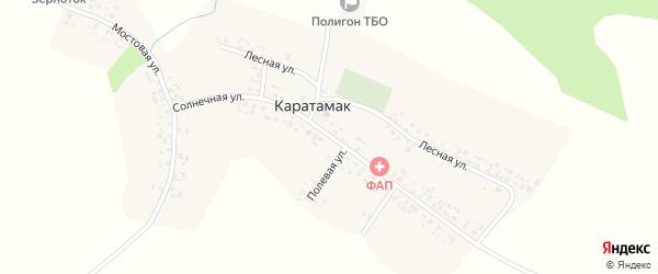 Солнечная улица на карте деревни Каратамака с номерами домов