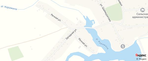 Западная улица на карте села Сафарово с номерами домов