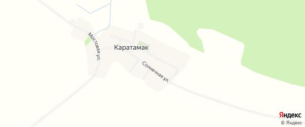 Карта деревни Каратамака в Башкортостане с улицами и номерами домов
