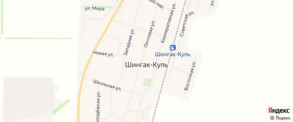 Карта села Шингак-Куль в Башкортостане с улицами и номерами домов