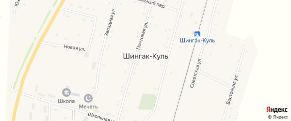 Прибрежная улица на карте села Шингак-Куль с номерами домов