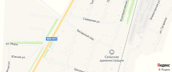 Базарный переулок на карте села Шингак-Куль с номерами домов