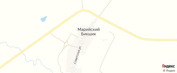 Советская улица на карте деревни Марийского Бикшика с номерами домов
