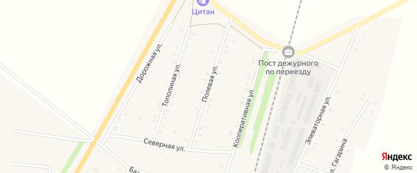 Полевая улица на карте села Шингак-Куль с номерами домов