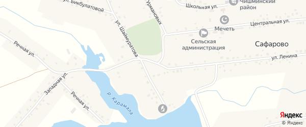 Улица Урмановых на карте села Сафарово с номерами домов